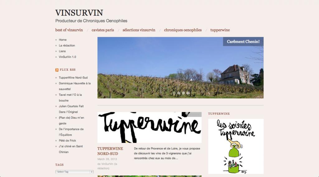 Vin sur vin blog